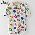 Estilo del verano mujeres de la camiseta impresa dulce kawaii de tes superior harajuku top brand clothing floral lindo camiseta mujer camiseta de la moda