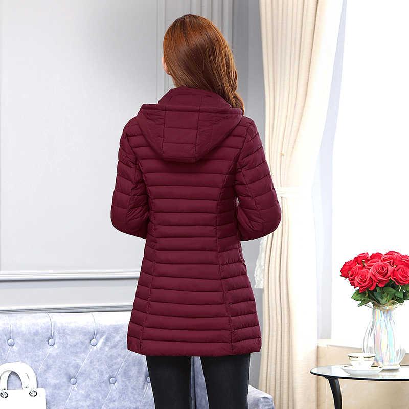 AYUNSUE kurtka zimowa kobiety długi koreański cienkie dół bawełna Plus rozmiar płaszcz kobiet parki Camperas Mujer Abrigo Invierno 2019 KJ420