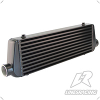 Universal Front Mount Bar&Plate Intercooler 550*180*64 In/Outlet 2.25 FMIC 32PSI Black