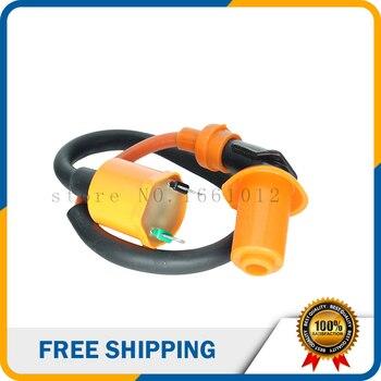 DQ-147 modificado GY6 naranja bobina de encendido para Scooter 50cc 75cc 80cc 90cc 100cc 110cc 150cc 200cc 250cc motor envío gratis