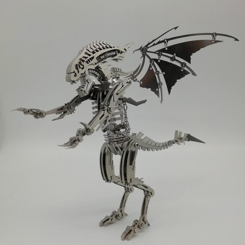 Дрон насекомое 3D стальная металлическая отделка DIY шарнир подвижность набор миниатюрных моделей головоломки игрушки хобби для мальчиков с...