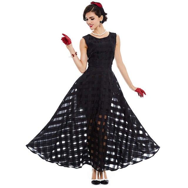 f0b7701f8825 placeholder Sisjuly 2019 maxi summer dress black plaid women long dress  sleeveless tank a-line long