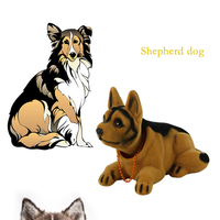 Shaking Head Puppy Car Ornament Dashboard Decoration Car Styling Auto Interior Accessories Swinging Animal Doll Nodding Dog