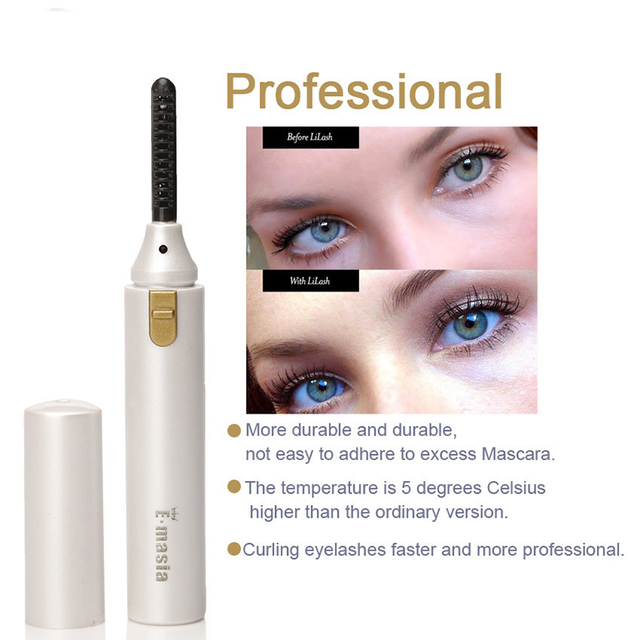 Double Sided Electric Heated Eyelash Curler Long Lasting Natural Eye