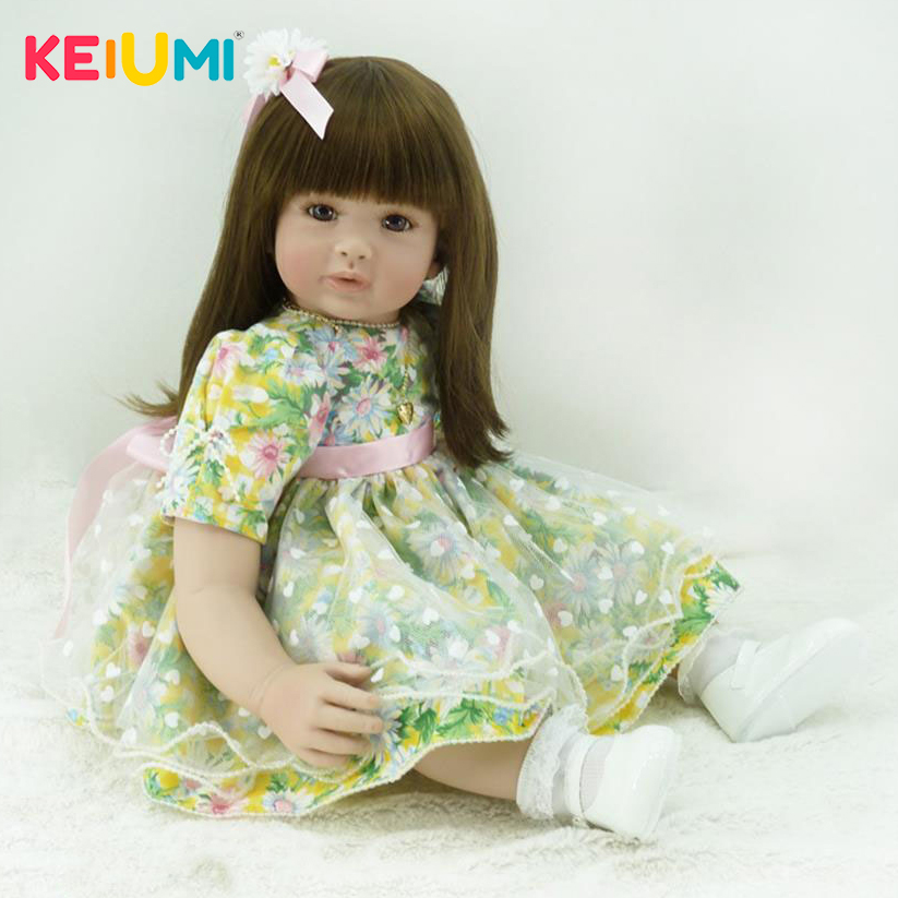 Real Looking 56 cm Reborn Toy Soft Touch Silicone Newborn Doll For Girl Alive Reborn Baby Doll Cloth Body Kids GiftsReal Looking 56 cm Reborn Toy Soft Touch Silicone Newborn Doll For Girl Alive Reborn Baby Doll Cloth Body Kids Gifts