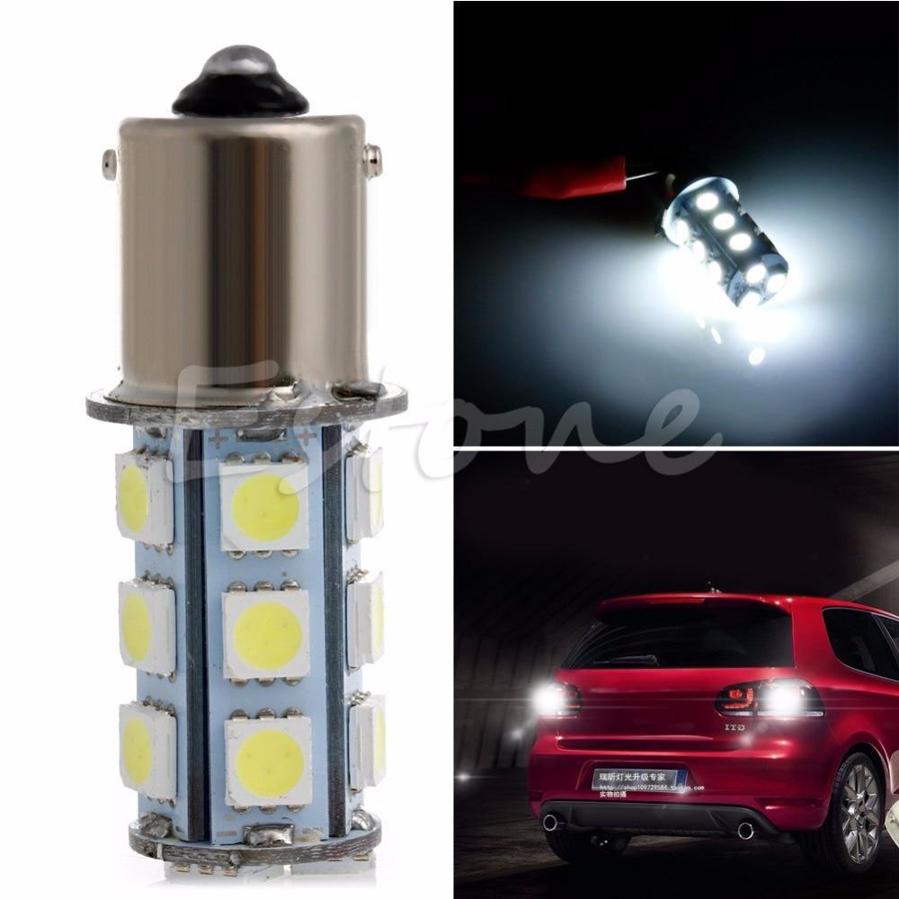 1156 BA15S 382 P21W 18 SMD 5050 LED Car Tail Brake Signal Light Bulb White 1156 ba15s p21w 2 3w 13 led 5050 smd led red light car turn brake tail reversing light