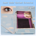 New arrival high quality 12 rows 0.10 B curl 5mm -7mm lower under eyelash extensions 3 trays/lot natural long eyelash extension