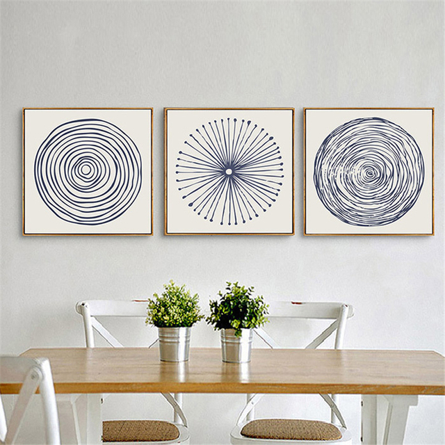 US $6 99 40% OFF|Abstract Tree Growth Ring Canvas Art Drawing Concentric  Circles Nordic Mural Picture Interesting Wall Poster for Home Cafe Decor-in