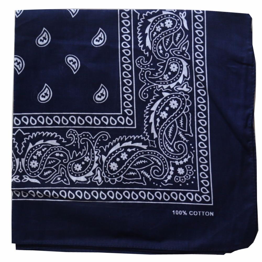 NEW Navy blue paisley print bandana neckerchief head wrap 55x55cm womens mens