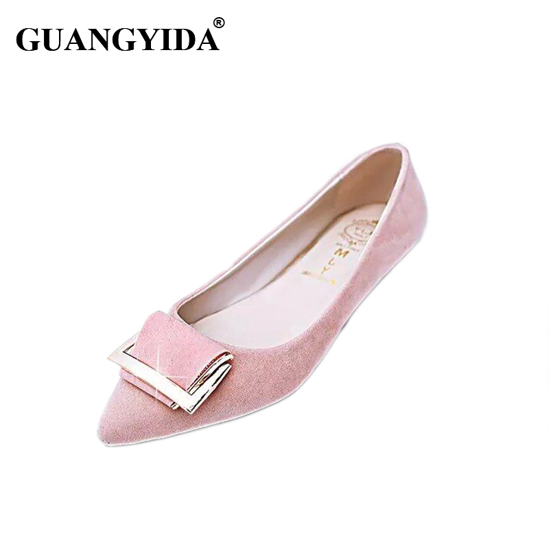New 2017 Fashion Style Pointed Toe Women's Shoes Flats Summer Solid Flat Shoes Woman Candy Color Ballet Shoes weweya 2017 summer candy colors ladies flats fashion pointed toe shoes woman new flat shoes women plus size chaussure femme