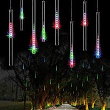 AKDSteel 8 падающий дождь капля/сосулька Снег осень веревка светодиодный Рождественское дерево Каскадный Свет Декор(красочный, ЕС штекер