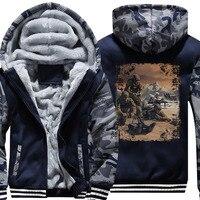 COYONG Brand USA size 5XL Hoody Men Long Eod Winter Thicken Fleece Hoodies Zipper Casual Coat Custom made Clothing Jacket