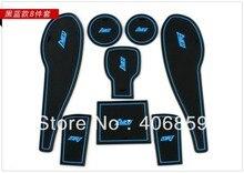 8 PCS Non-Slip Interior Door Mat Pad for Chevy Aveo/Sonic 2011 2012 2013 Cup Mats Pads Gate Slot Cushion Anti-slip mat vg fast a