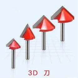 6x32x90 градусов Фрезы с ЧПУ, резьба по дереву Инструменты на 3D Вырезка Резка машины