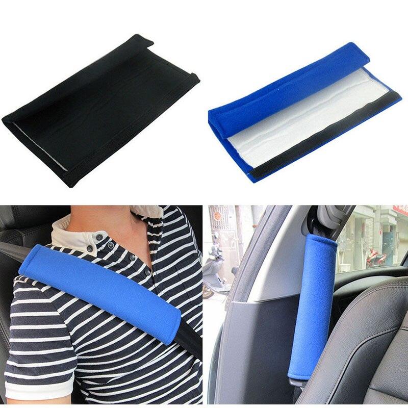 1 Para Auto Sitz Gürtel Pads Harness Sicherheit Schulter Strap Zurück Kissen Abdeckungen Für Kinder Kinder Erwachsene Schwarz Blau Für Ford Lada Kia