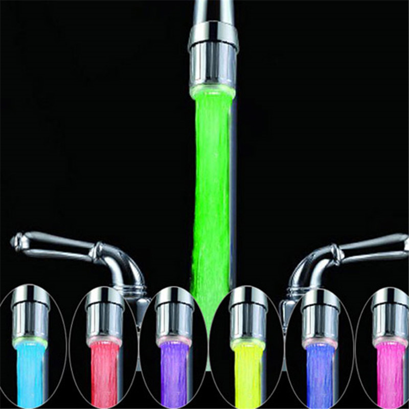 Multicolor fast flashing faucet led tap light (Aerator for faucet) with blister packing with adaptor