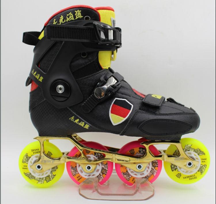 Free Shipping Roller Skates Adults DIY Assemble  Fierce Frame PU Wheel 85A