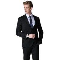Black wedding fashion men's formal occasions suit handsome friends men twinset of classic designs suit (jacket + pants)