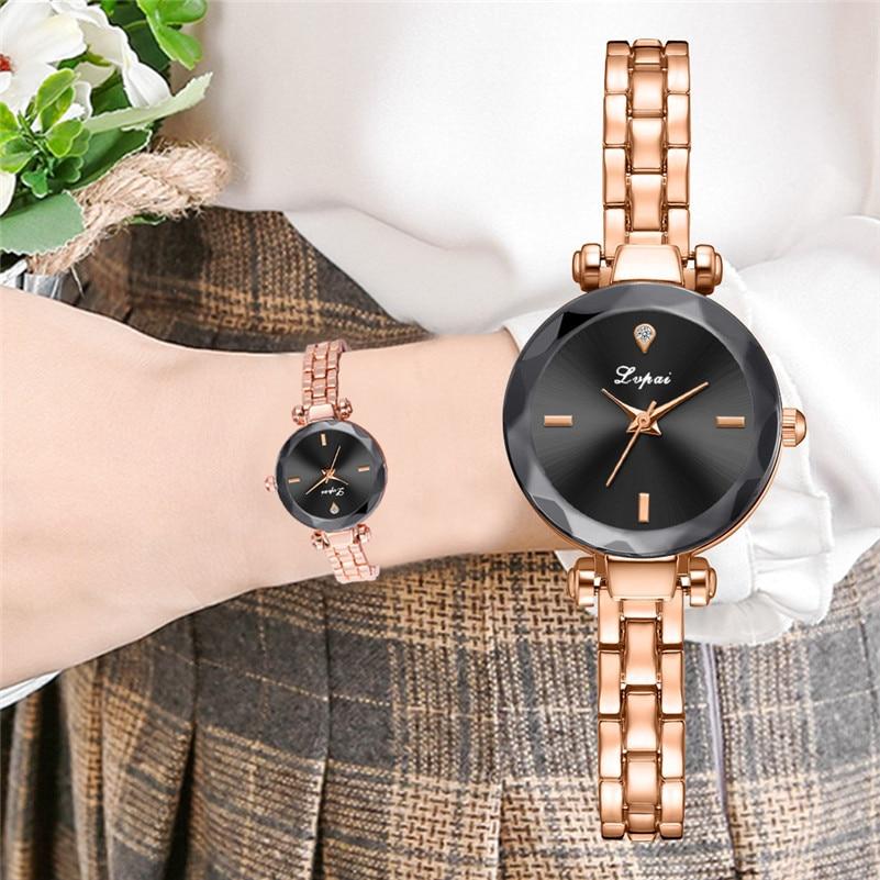 D Womens Quartz Watch,Present Hot Fashion Irregular Glass Beautiful Numble Dial Alloy Belt Quartz Watch
