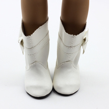 Doll Shoes White Fits 18 American Girl Doll Clothes Boots Shoes With Doll Accessories free shipping
