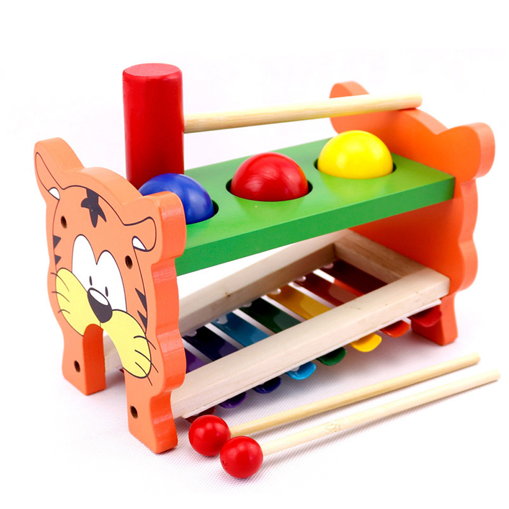 Ressources d'apprentissage jouets de musique en bois jouets éducatifs musicaux Xylophone de 8 notes Instrument de Percussion jouet pour enfants