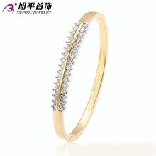 Xuping brazalete de moda del encanto del regalo de moda Multicolor chapado en oro sintética CZ de la joyería del brazalete para mujeres China por mayor S9-51109