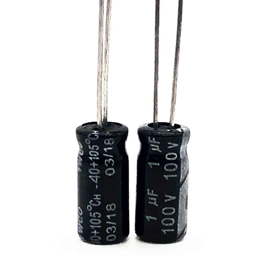 40pcs/lot 100V 1UF 5*11 20% RADIAL Aluminum Electrolytic Capacitor 1000nf 20%