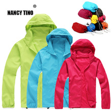 NANCYTINO Men Women Quick Dry Skin Jackets Sun-Protective Waterproof Warm Coats Outdoor Sports Clothing Camping Hiking Jacket