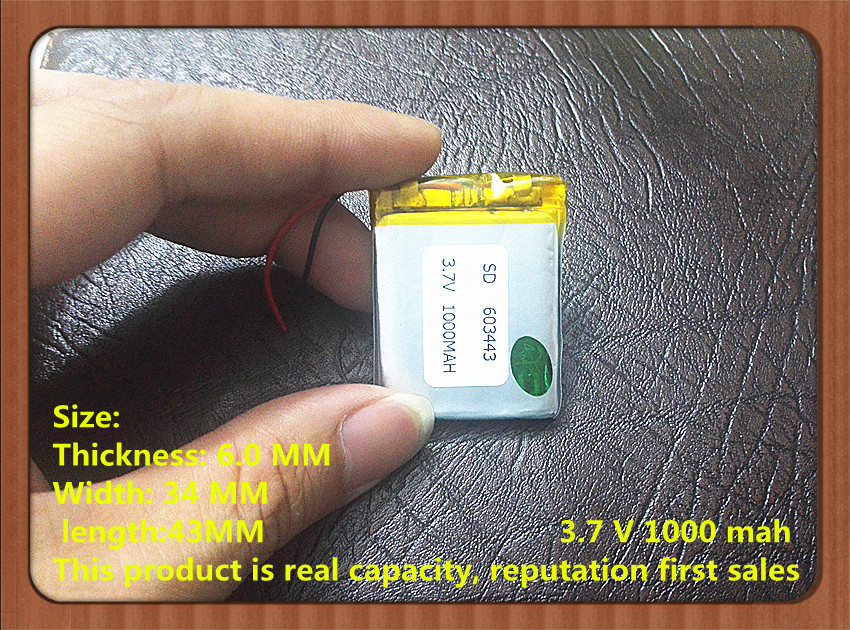Factory Direct Audio, Navigation , Power Tools Dedicated Polymer Battery 3.7v 603443 1000mah