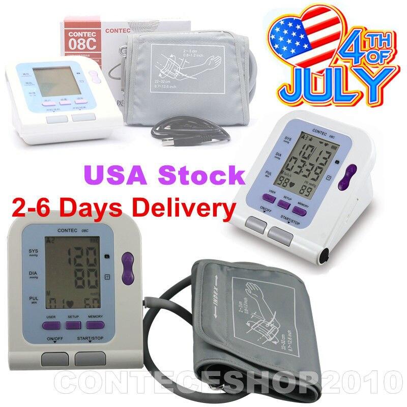 FDA CE Цифровой предплечье измерять кровяное давление Мониторы + взрослый ВР манжеты + PC Программы для компьютера contec08c