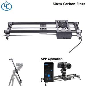 Image 1 - YC Onion Hot Dog 60cm Carbon Fiber Lightweight Portable Camera Motorized Slider for DSLR Mirrorless Camera Bluetooth APP Control