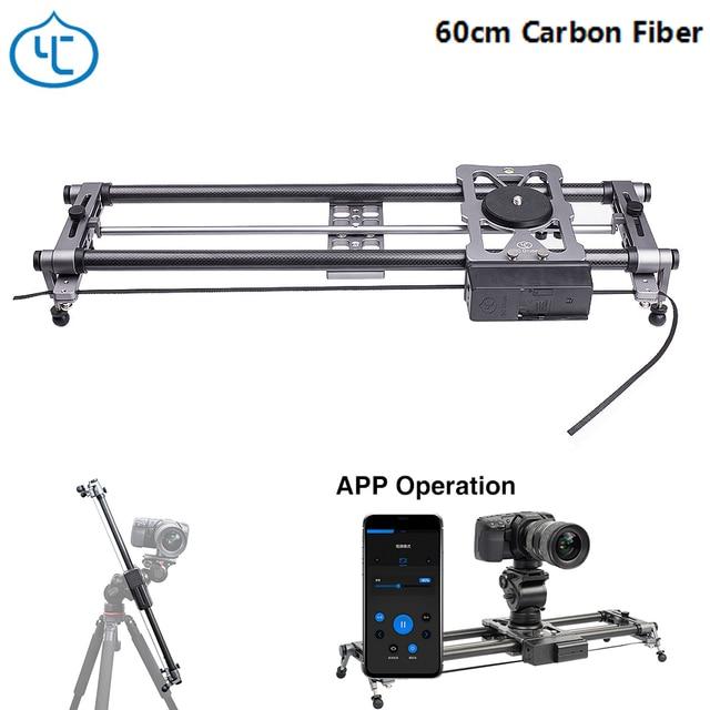 YC Onion Hot Dog 60cm Carbon Fiber Lightweight Portable Camera Motorized Slider for DSLR Mirrorless Camera Bluetooth APP Control