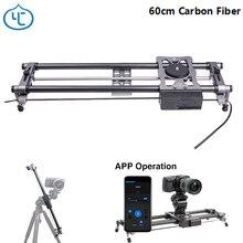 Yc câmera portátil para cebola 60cm, fibra de carbono, leve, para dslr, sem espelho, bluetooth, controle por aplicativo