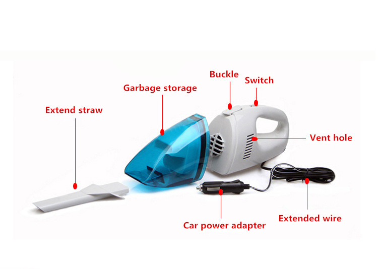Promotion Portable Car Vacuum Cleaner Car Styling Auto Cleaner 60W High Suction Mini Car Vaccum Cleaner DC Interface Adapter CE