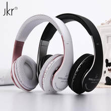 JKR-211B Foldable Stereo Bass Sports Wireless Bluetooth Headset Headphone with Mic FM Radio TF Card Slot for Samsung iPhone Sony