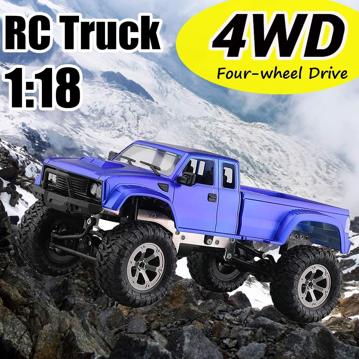 Voiture chaude RC 2.4 ghz 1:18 voiture télécommandée monstres électriques camion 4WD quatre roues véhicule tout-terrain rouge/bleu nouveau
