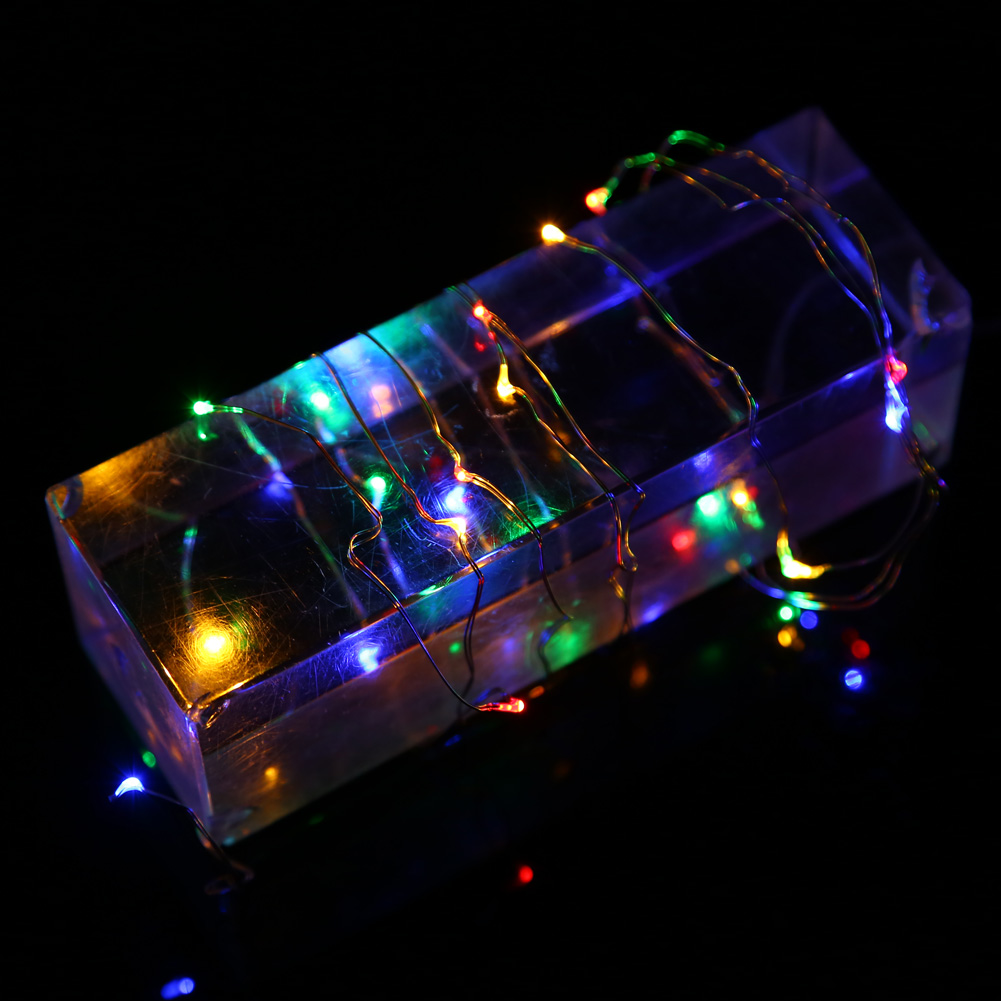 LED String Lights 5M 33ft 100LED 5V USB Powered Outdoor 5 Colors Copper Wire Christmas Festival Wedding Party Decoration Light
