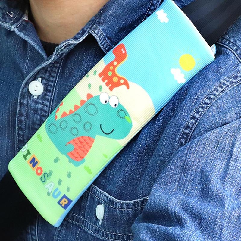 1Pc Car Seat Belts Safety Universal Cartoon Kids Seat Belts Shoulder Pad Cover for Children Super Flannelette shoulder Cover