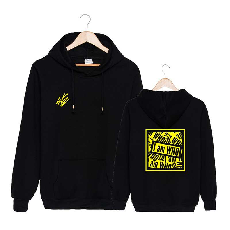 KPOP Straykids I am WHO Concert Album Tour <font><b>K</b></font>-<font><b>POP</b></font> Hip Hop Hooded <font><b>K</b></font> <font><b>POP</b></font> Tops Pullovers Hoodies PT916 image