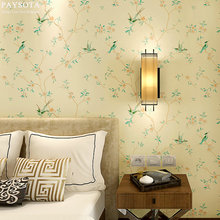 цена на  PAYSOTA New modern classical Chinese style wallpaper Bedroom Living Room Sofa TV Setting Non-woven Wall Paper