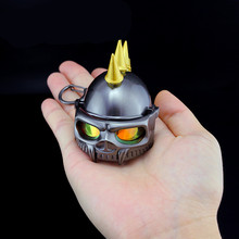 PUBG Game Playerunknown's Battlegrounds Level 3 Helmet Skull Knight Punk Style Keychain Pendant funny Toy Accessories Key ring