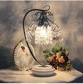 Аутентичные Корейский кристалл спальня настольная лампа прикроватная лампа современный творческий лампа диммер свадебные наборы