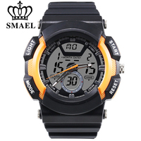SMAEL Fashion Watch LED Men Waterproof Sports Watches Pointer Type Luxury Digital Electronics Watches Mens Relogios