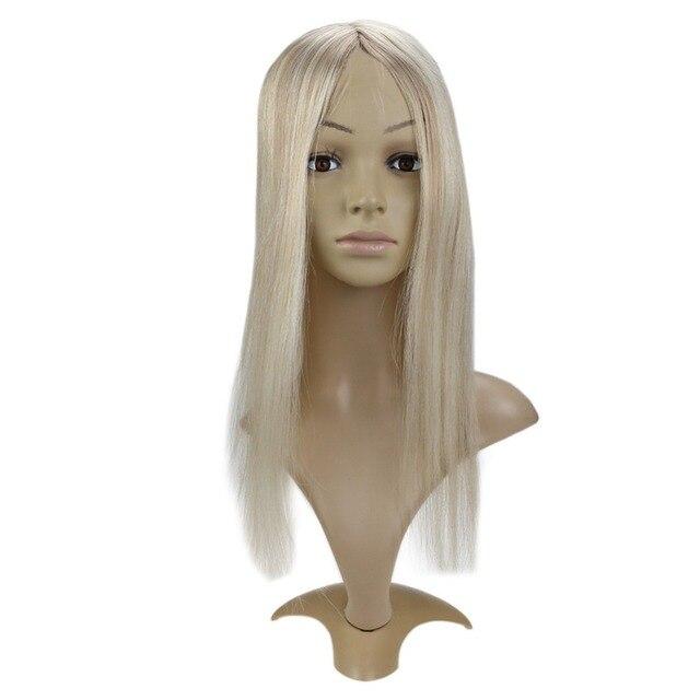 Extensiones de corona de pelo de brillo completo Clip de cabello humano en extensiones 6,5*3 pulgadas pelo Remy recto para mujeres una pieza #10/613