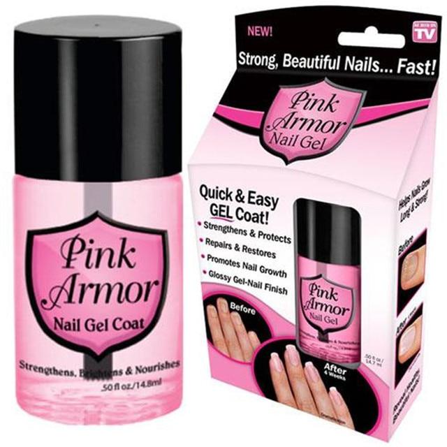 Pink Armor Nail Gel Growth Formula Treatments Nail Coat, 0.50 Fluid ...
