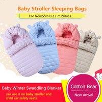 Cotton Bear baby sleeping bags babies strollers envelope winter baby sleeping sack newborn swaddling blanket, 0 12 m