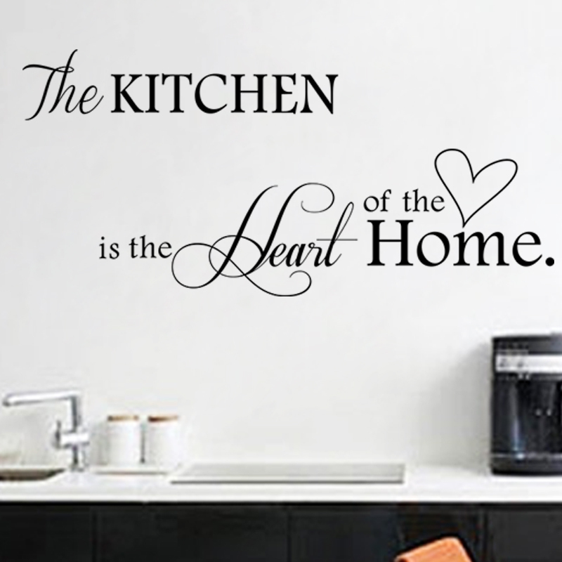 Diy wall stickers home decor kitchen decal home for Poster deco cuisine