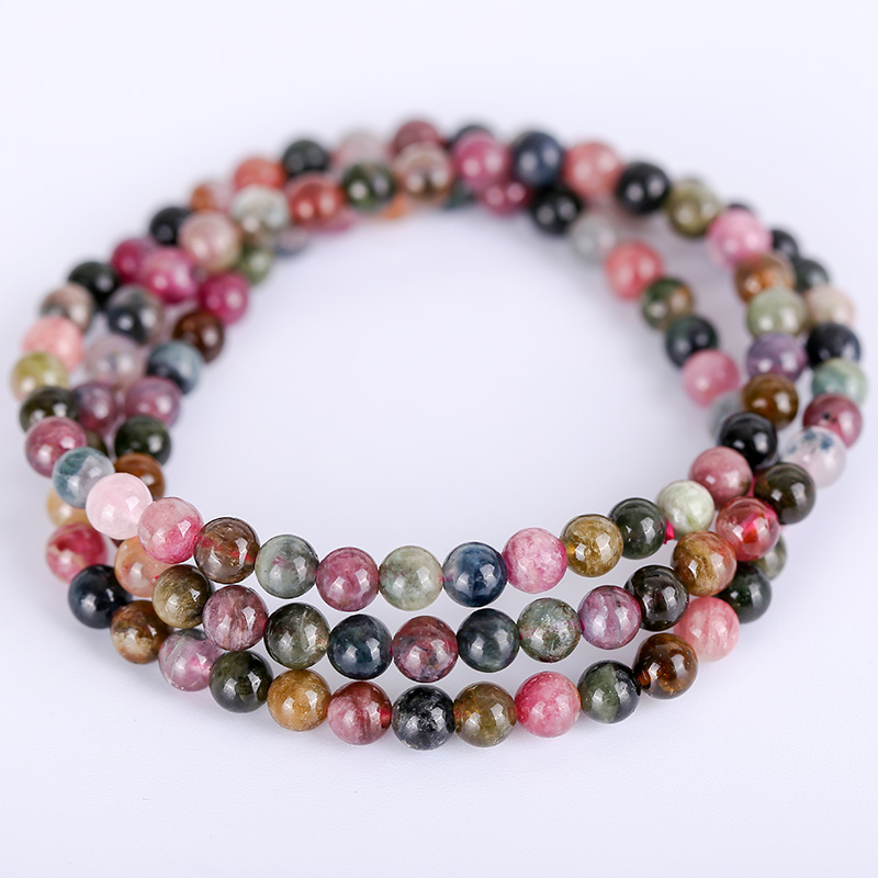 Europe and Tourmaline United States big brand with the same natural multi-treasure bracelet garnet wild simple autumn and winte Europe and Tourmaline United States big brand with the same natural multi-treasure bracelet garnet wild simple autumn and winte