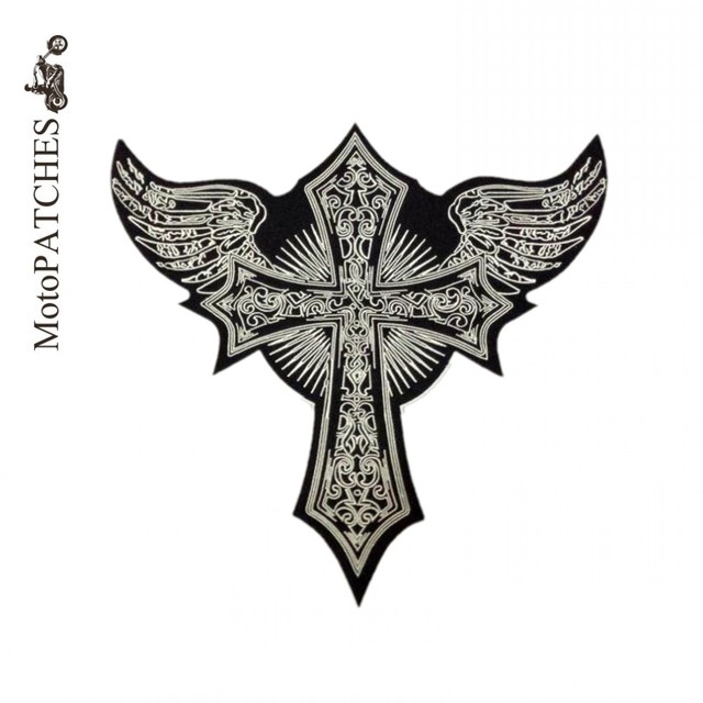 Aliexpress.com : Buy Embroidery Patch Skull Cross Wing