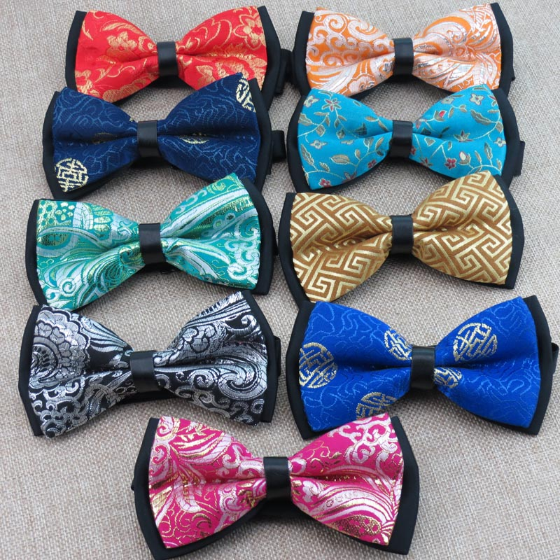 (5 pieces/lot) Chinese style bowtie/satin and polyester/ mens fashion leisure bow ties/25 kinds optional, free shipping